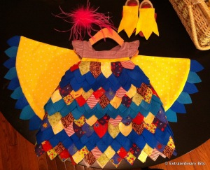 finished bird costume